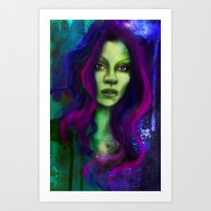 Galaxy within Her Art Print