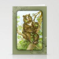 Bear on a Tree Stationery Cards