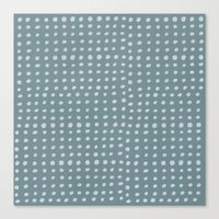 Slate X Dots Canvas Print