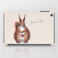 Squirrel heart love iPad Case