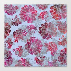 Flower Pattern Design Canvas Print