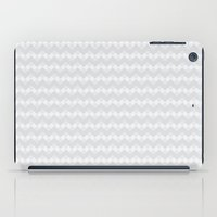 Chevron Neue Gray and White Pattern iPad Case