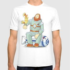 Capt. Green SMALL Mens Fitted Tee White