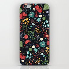 cats and flowers iPhone & iPod Skin