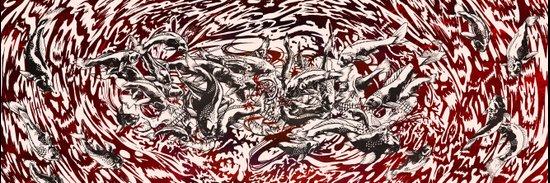 Koi Whirlpool Art Print