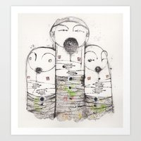 Blindly Following Some Other Mans Purpose Or Reason, unified only to some degree Art Print