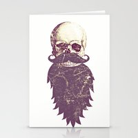 Beard Skull 3 Stationery Cards