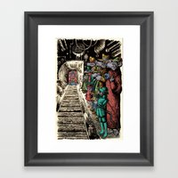 Subway Rats Framed Art Print