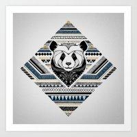 Indian Panda Art Print