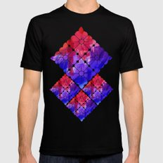Flowers II Mens Fitted Tee SMALL Black