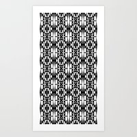 Black and White 2 Art Print