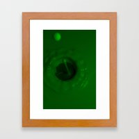 A Drop of Green Framed Art Print