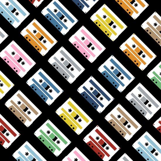 Rainbow Tapes 45 Canvas Print