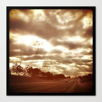 Sunday morning drive to work. Canvas Print