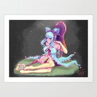 living to fulfill all my wishes Art Print