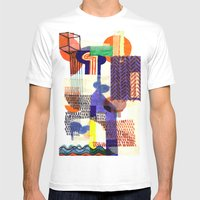 Collage II Mens Fitted Tee White SMALL