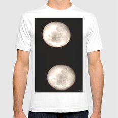 Shot in the Dark White SMALL Mens Fitted Tee