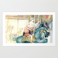 Carousel Ride Art Print