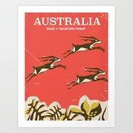 Australia Vintage Travel… Art Print