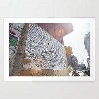 writing on the wall::nyc Art Print