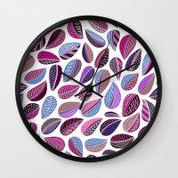Leaf Purple Wall Clock