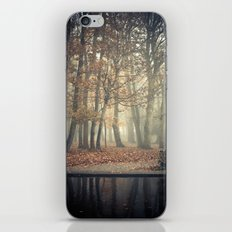 Trees in mist iPhone & iPod Skin