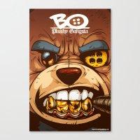 Bo: Plushy Gangsta CloseUP Canvas Print