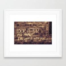 Take Care of My Heart Framed Art Print
