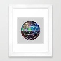 Space Geodesic Framed Art Print