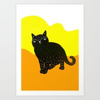 Cats Life 3 Art Print