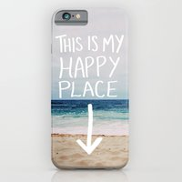 iPhone & iPod Case featuring My Happy Place (Beach) by Leah Flores