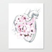 Blossom Burst Heart Canvas Print