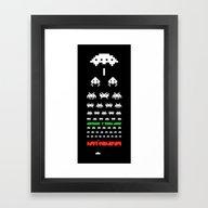 Framed Art Print featuring Eye Exam For Geeks by John Tibbott