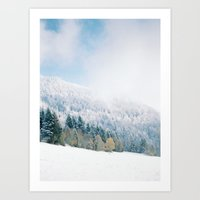 White Forest - French Alps Art Print