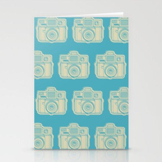 I Still Shoot Film Holga Logo - Turquoise/Tan Stationery Card