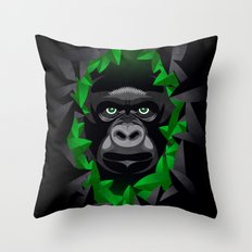 Shy Green Eyes Throw Pillow