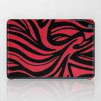 Red & Black Waves iPad Case