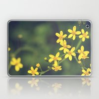 yellow bursts Laptop & iPad Skin