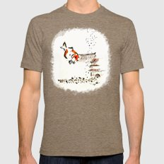 Goldfish Mens Fitted Tee Tri-Coffee SMALL