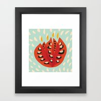 Red Abstract Tulip Framed Art Print