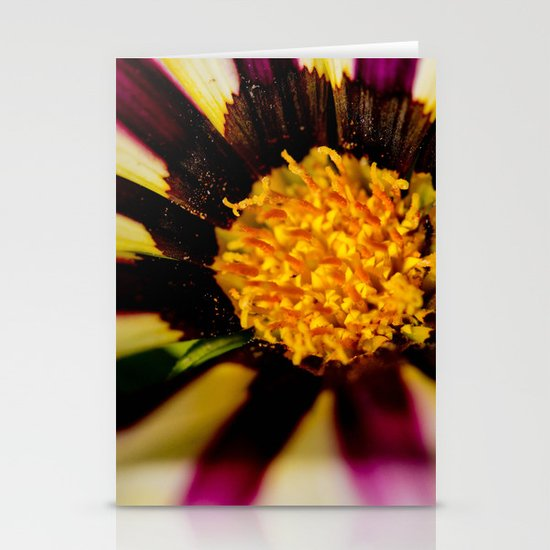 Purple and White Stationery Card
