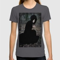 The Witch in the Woods Womens Fitted Tee Asphalt SMALL