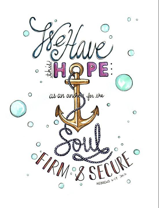 Hebrews 6:19 Art Print