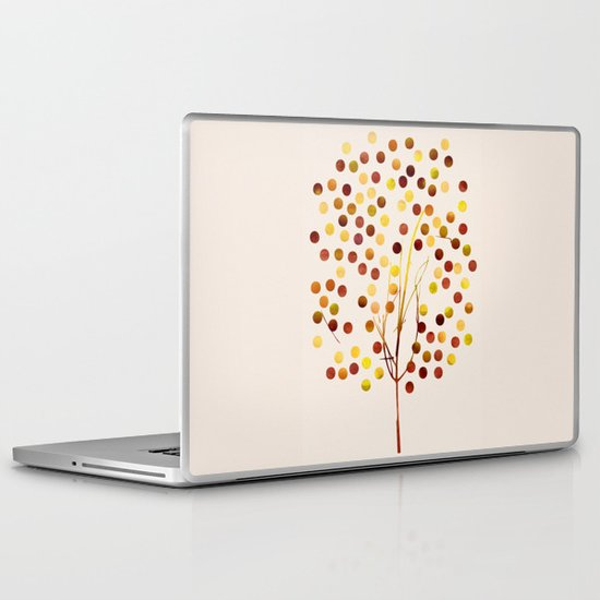Tree of Life_Amber by Jacqueline and Garima Laptop & iPad Skin