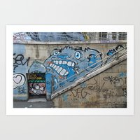 Grey Bear Graffiti Art Print