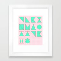'ㄱ,ㄴ,ㄷ,ㄹ' (Korea… Framed Art Print
