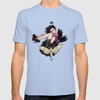 Queen Of Wings Mens Fitted Tee Tri-Blue SMALL