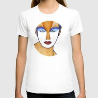 Aza (previous age) Womens Fitted Tee White SMALL