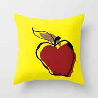 Apple for Teacher Throw Pillow
