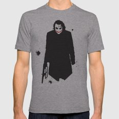 The Dark Knight: Joker Mens Fitted Tee Athletic Grey SMALL